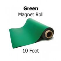 Green Vinyl Magnet Sheeting - 10' Rolls