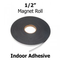 "Indoor Adhesive Magnetic Strips- .5"" x 100' - 60 mil"