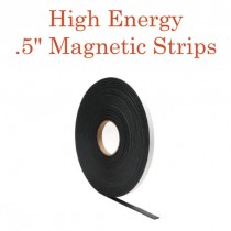 """High Energy Outdoor Adhesive Magnetic Strips- .5"""" x 100' - 60 mil"""