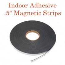 """Indoor Adhesive Magnetic Strips- .5"""" x 100' - 60 mil"""