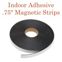 """Indoor Adhesive Magnetic Strips- .75"""" x 100' - 60 mil"""