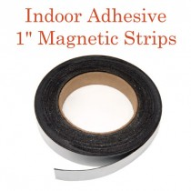 """Indoor Adhesive Magnetic Strips- 1"""" wide"""
