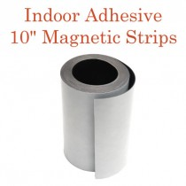 """Indoor Adhesive Magnetic Strips- 10"""" wide"""