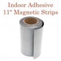 """Indoor Adhesive Magnetic Strips- 11"""" wide"""