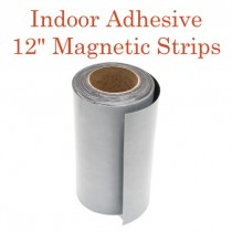 """Indoor Adhesive Magnetic Strips- 12"""" wide"""