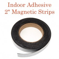 """Indoor Adhesive Magnetic Strips- 2"""" Wide"""