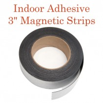 """Indoor Adhesive Magnetic Strips- 3"""" wide"""