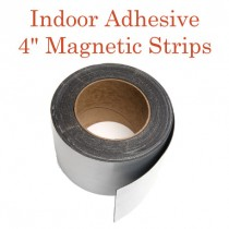 """Indoor Adhesive Magnetic Strips- 4"""" wide"""