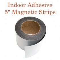 """Indoor Adhesive Magnetic Strips- 5"""" wide"""