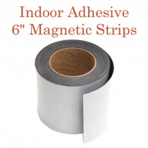 """Indoor Adhesive Magnetic Strips- 6"""" wide"""