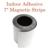 """Indoor Adhesive Magnetic Strips- 7"""" wide"""