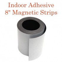 """Indoor Adhesive Magnetic Strips- 8"""" wide"""