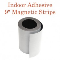 """Indoor Adhesive Magnetic Strips- 9"""" wide"""