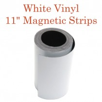 """White Vinyl Magnetic Strips - 11"""" x 50'"""