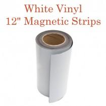 """White Vinyl Magnetic Strips - 12"""" x 50'"""