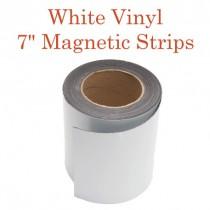 """White Vinyl Magnetic Strips - 7"""" x 50'"""