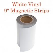 """White Vinyl Magnetic Strips - 9"""" x 50'"""