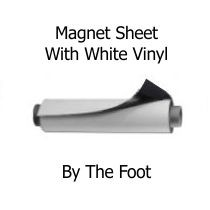 White Vinyl Magnet Roll - By the Foot