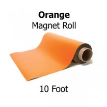 Orange Vinyl Magnet Rolls - 10' Rolls