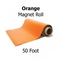 Orange Vinyl Magnet Rolls - 50' Rolls