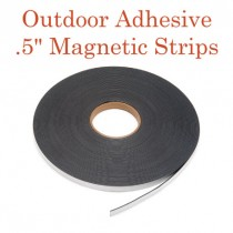 "Outdoor Adhesive Magnetic Strips- .5"" x 100' - 60 mil"