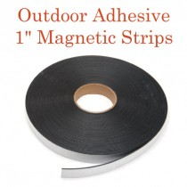 "Outdoor Adhesive Magnetic Strips- 1"" x 100' - 60 mil"