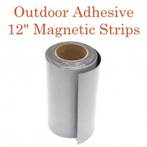 "Outdoor Adhesive Magnetic Strips- 12"" x 50'"