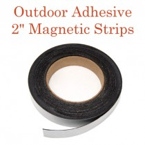 "Outdoor Adhesive Magnetic Strips- 2"" x 50' - 30 mil"
