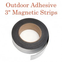 "Outdoor Adhesive Magnetic Strips- 3"" x 50'"