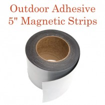 "Outdoor Adhesive Magnetic Strips- 5"" x 50'"