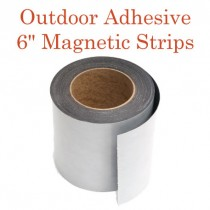 "Outdoor Adhesive Magnetic Strips- 6"" x 50'"