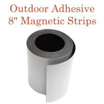 "Outdoor Adhesive Magnetic Strips- 8"" x 50'"