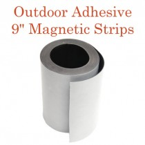 "Outdoor Adhesive Magnetic Strips- 9"" x 50'"