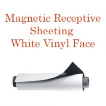 Magnetic Receptive Sheeting- White Vinyl Face