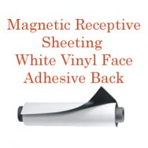 Magnetic Receptive Sheeting - White Vinyl Front with Adhesive Back
