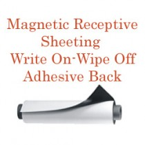 Magnetic Receptive Material - Write On-Wipe Off Front with Adhesive Back