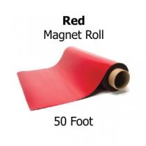 Red Vinyl Magnet Sheeting - 50' Rolls