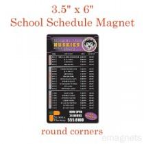 "School Schedule Magnet - 3.5"" x 6"" - Round Corners"