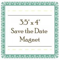 "Custom Save the Date Magnet - 3.5"" x 4"" - Round Corners"