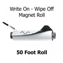 Write On - Wipe Off Magnetic Sheeting - 50 Foot Rolls