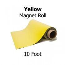 Yellow Vinyl Magnet Sheeting - 10' Rolls
