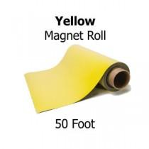 Yellow Vinyl Magnet Sheeting - 50' Rolls